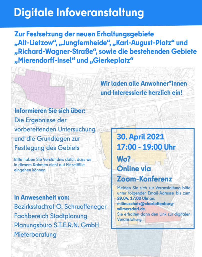 Info-Veranstaltung Milieuschutzgebiet Karl-August-Kiez.